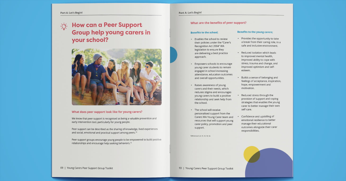 Young Carers Peer Support Toolkit pages